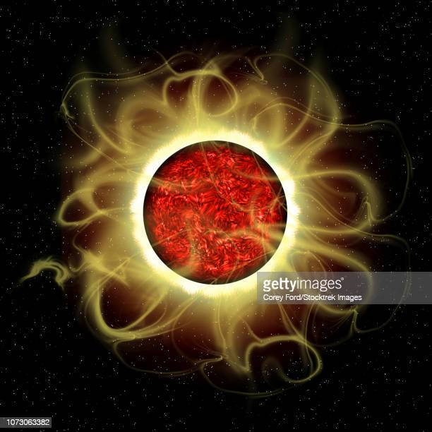 illustration of the sun's magnetic field. - volcanic crater stock illustrations, clip art, cartoons, & icons