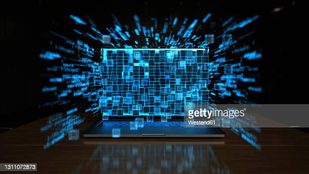 3d illustration of use of ai in companies - computer stock illustrations
