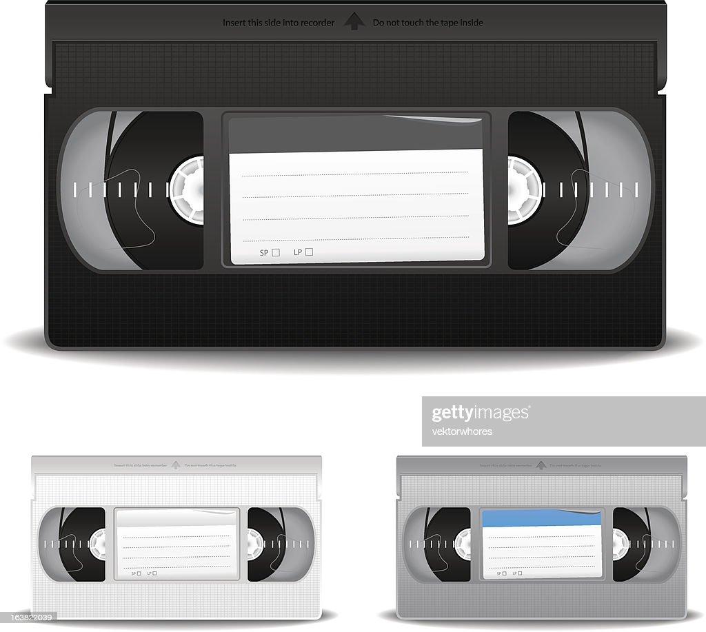 Illustration of VHS video cassette