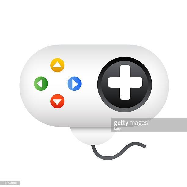 illustration of video game joystick - joystick stock illustrations, clip art, cartoons, & icons