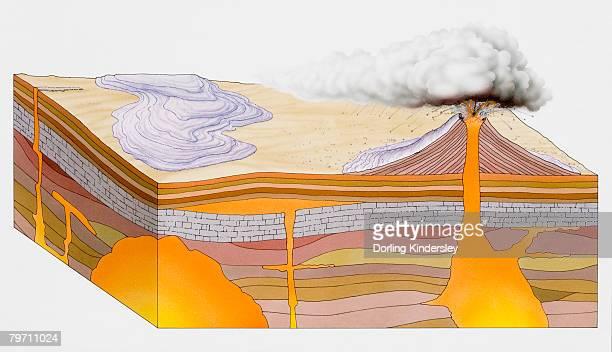 Illustration of volcano