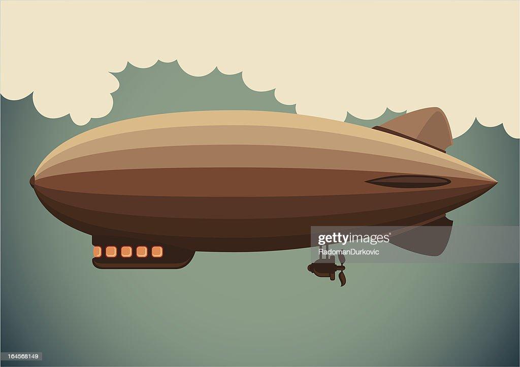 Illustration of zeppelin.