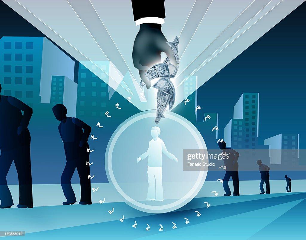 Illustration representing benefits of health insurance : stock illustration
