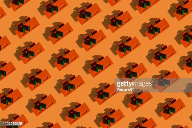 3d illustration, row of desks - in a row stock illustrations