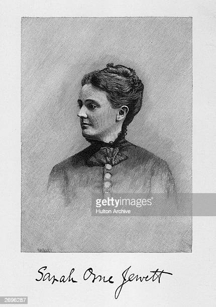 Illustration Sarah Orne Jewett American author Wrote tales and sketches of New England including 'Deephaven' 'A Country Doctor' 'A Marsh Island' 'A...