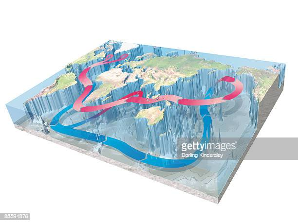 illustration showing continuous motion of water cycle below earth's surface - australia day stock illustrations