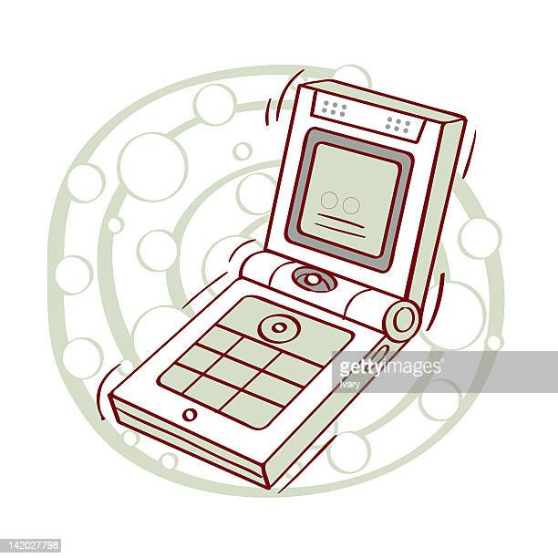 Illustrations of flip phone