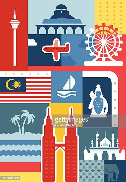 illustrative collage of Malaysia