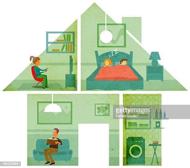 Illustrative image of family at home