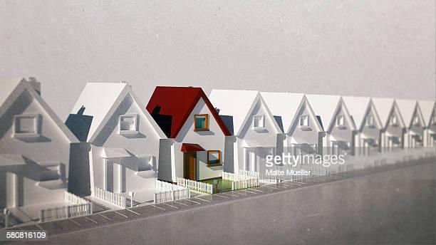 illustrative image of model houses - housing development stock illustrations