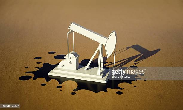 illustrative image of oil well - oil pump stock illustrations, clip art, cartoons, & icons