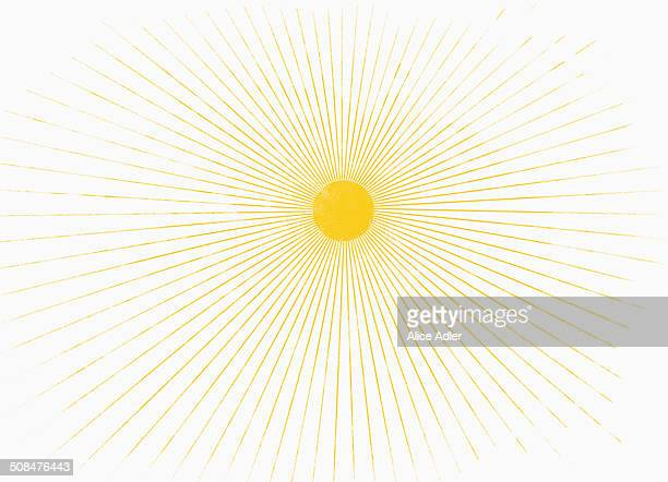 Illustrative image of sun shining against white background