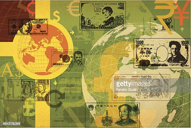 Illustrative representation of global currency