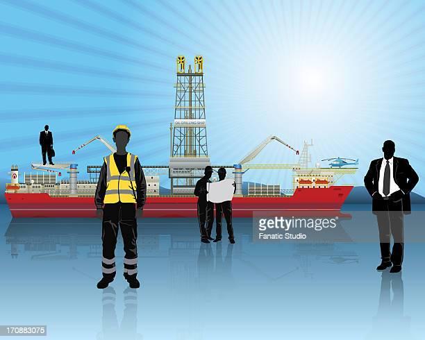 Illustrative representation of oil refinery, India