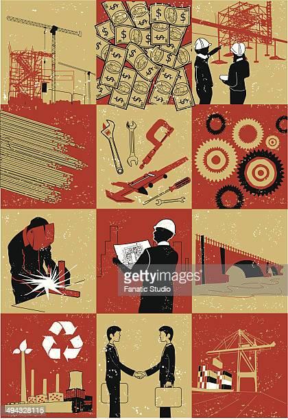 ilustraciones, imágenes clip art, dibujos animados e iconos de stock de illustrative representation showing construction - soldar