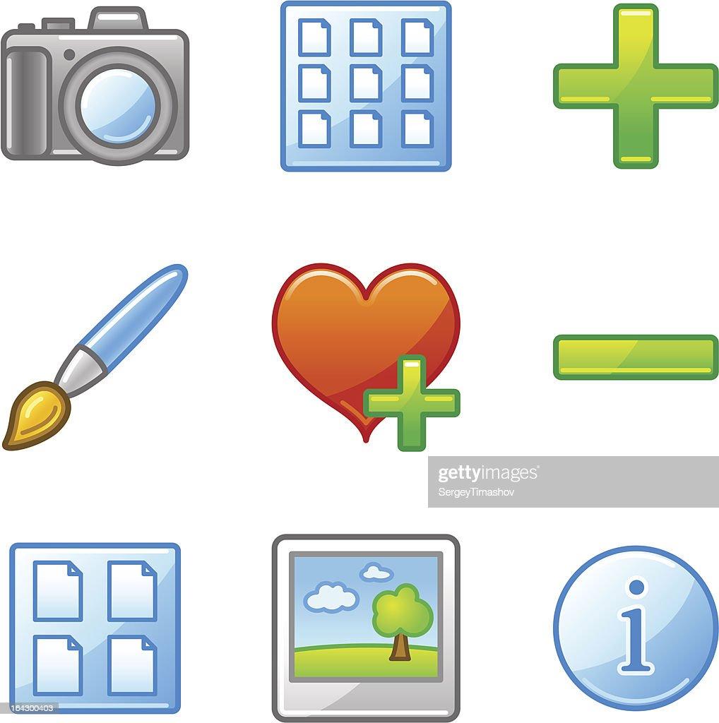 Image library web icons, alfa series