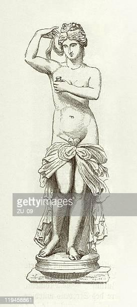 image of a statue of aphrodite - aphrodite stock illustrations, clip art, cartoons, & icons
