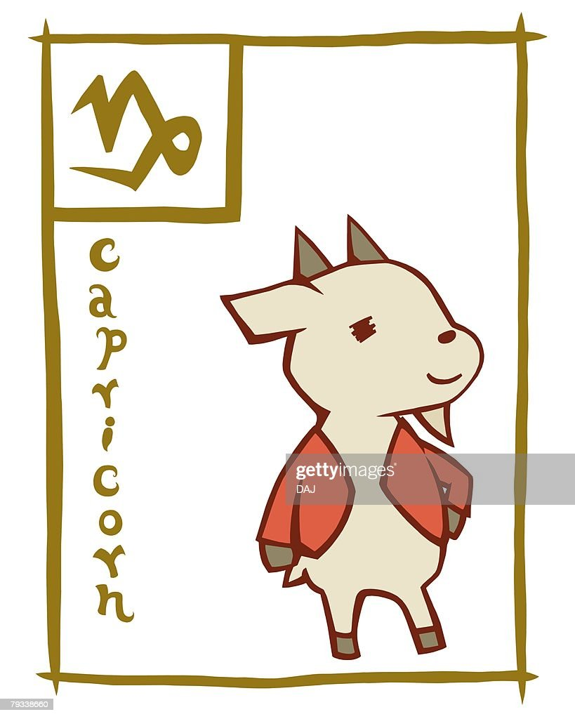 image of astrology sign capricorn front view white background cut