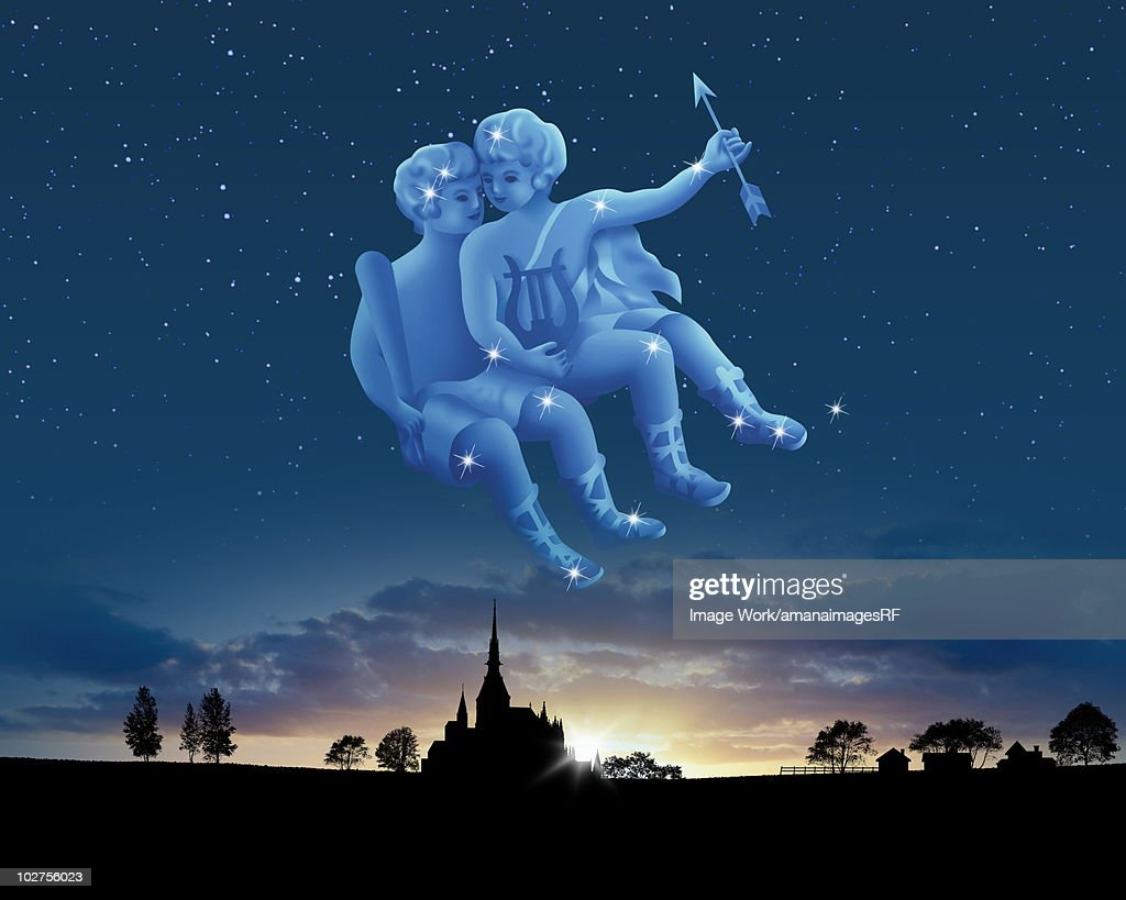 Image of Astrology sign, Gemini : stock illustration
