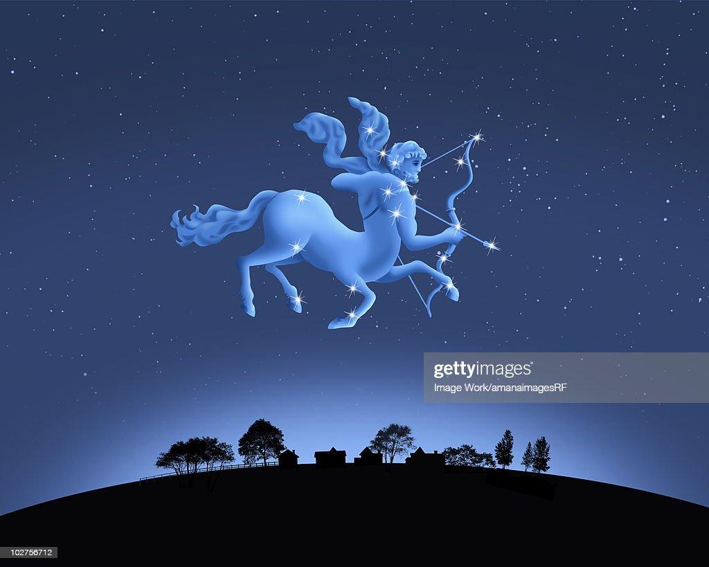 Image of Astrology sign, Sagittarius : stock illustration