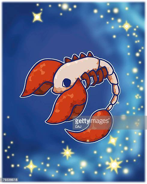 Image of Astrology sign, Scorpius, front view, differential focus