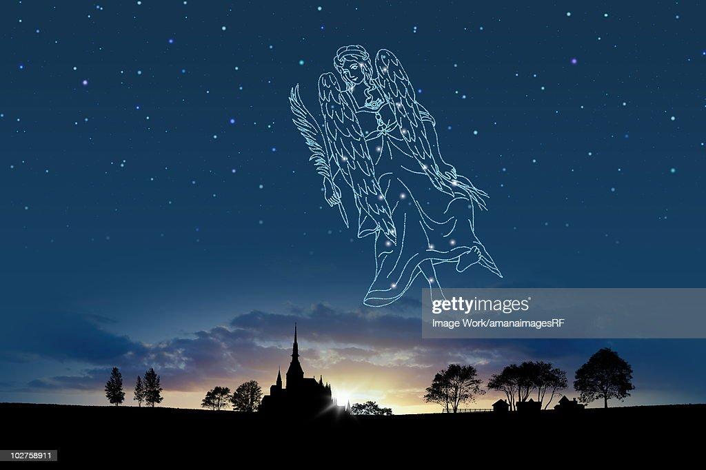 Image of Astrology sign, Virgo : stock illustration