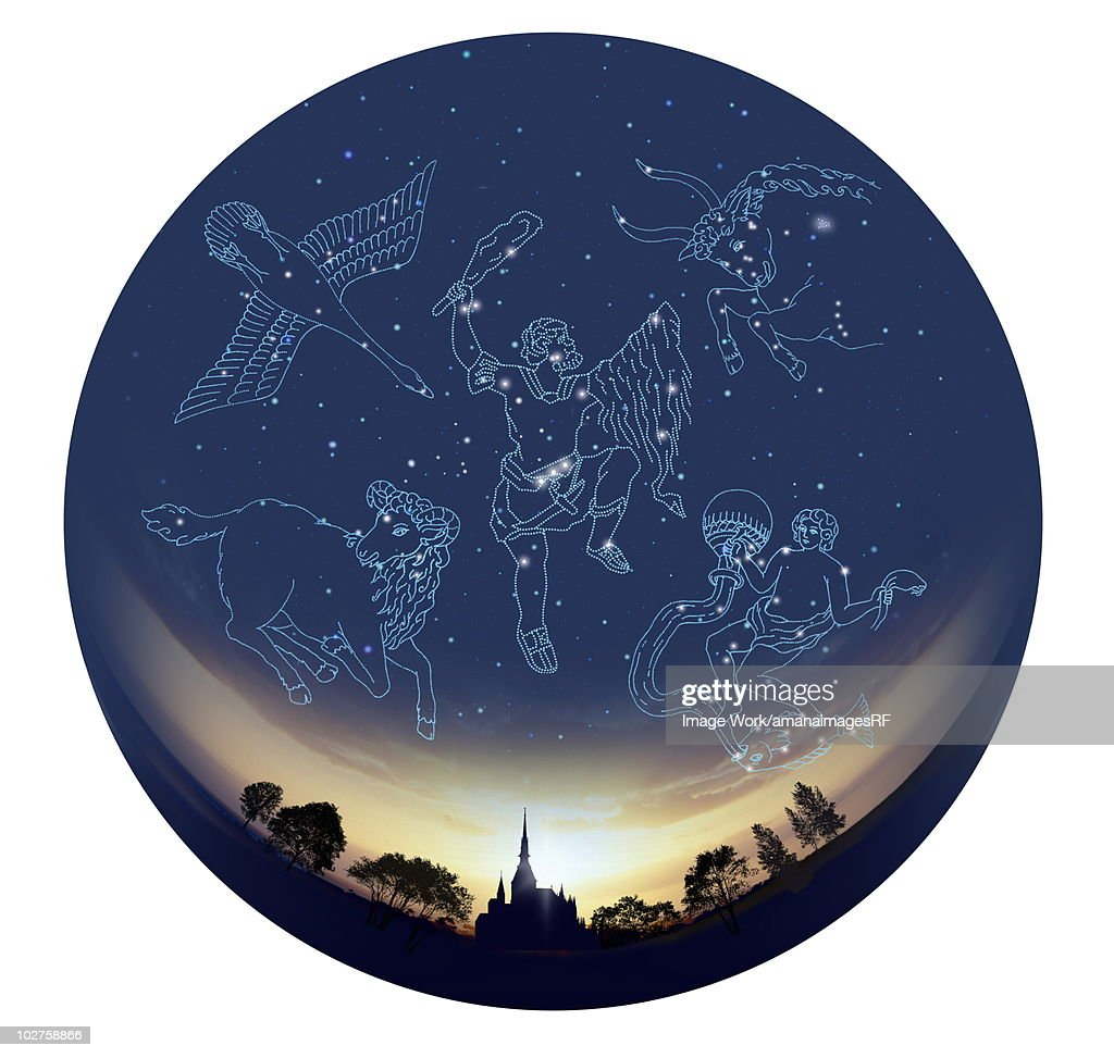 Image of Astrology signs, white background : Stock Illustration
