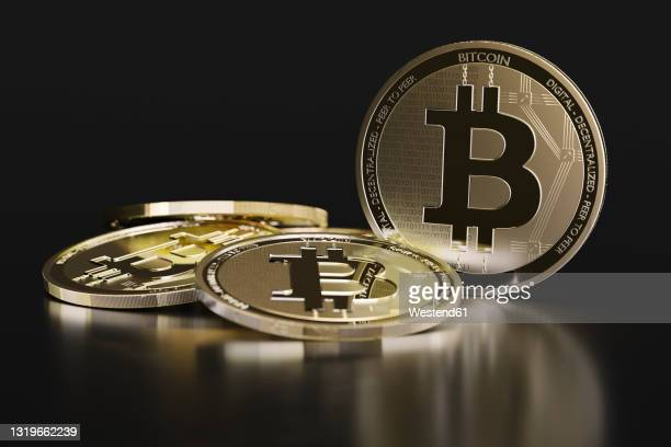 cgi image of bitcoin cryptocurrency - bitcoin stock illustrations