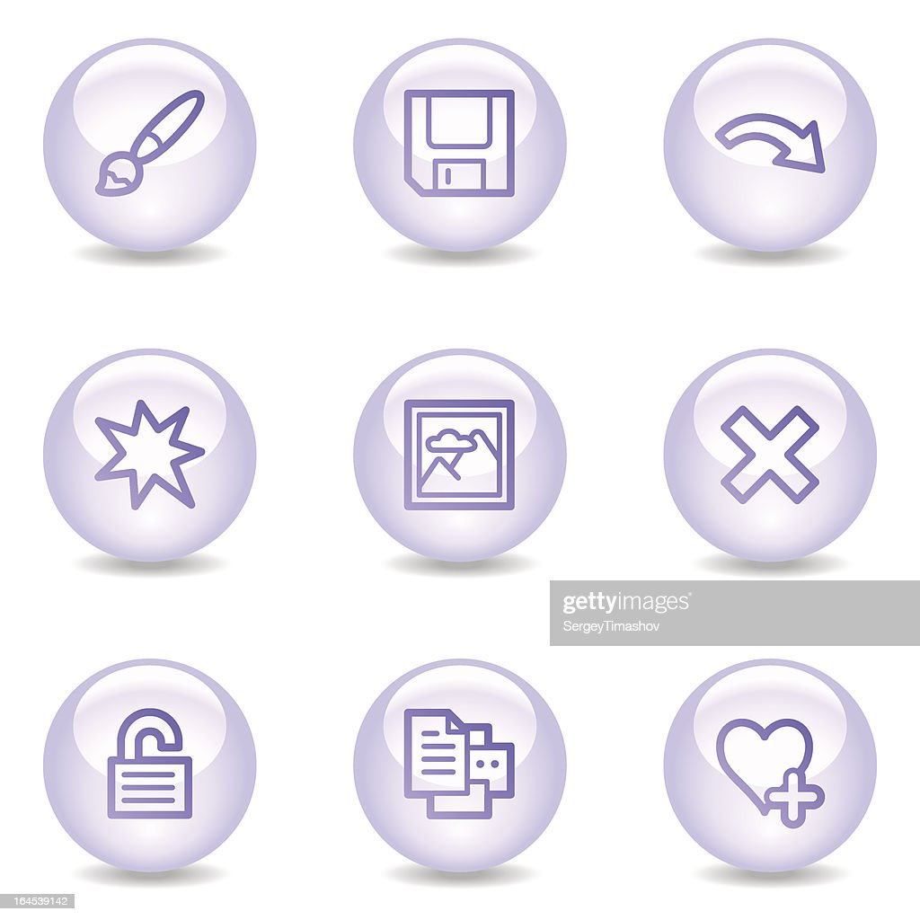 Image viewer web icons, glossy pearl series set 2