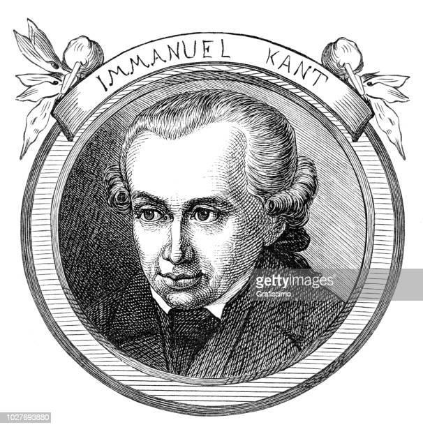 Immanuel Kant German philosopher portrait illustration