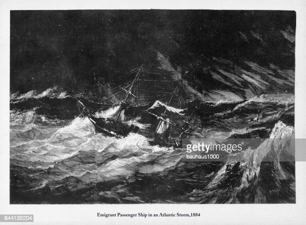 Immigrant Passenger Ship in an Atlantic Storm, 1884