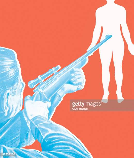 in close range - sports target stock illustrations