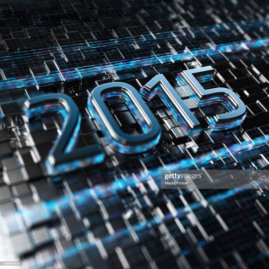 2015 in the digital age : Stock Illustration