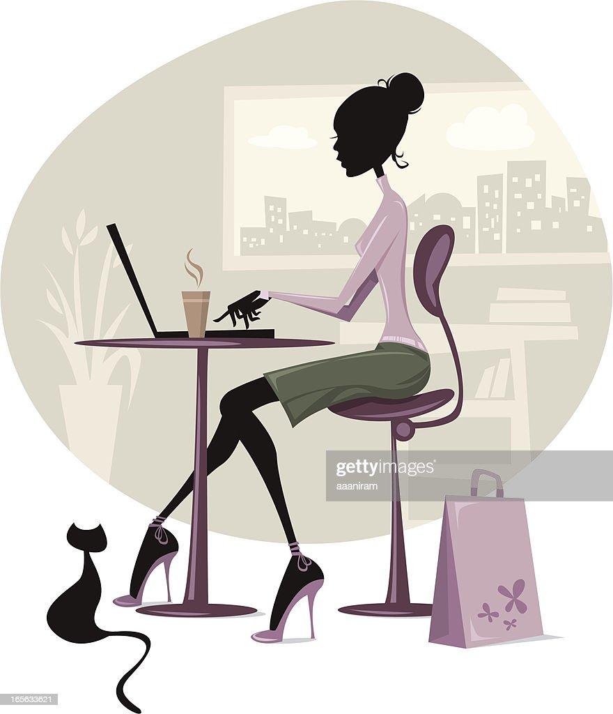 Dans le bureau : Illustration