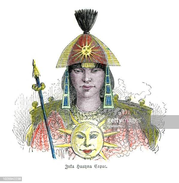 inca huayna capac chief leader 15th century - inca stock illustrations, clip art, cartoons, & icons