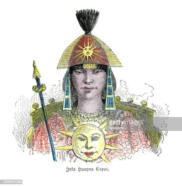 illustrazioni stock, clip art, cartoni animati e icone di tendenza di inca huayna capac capo leader xv secolo - principe persona nobile