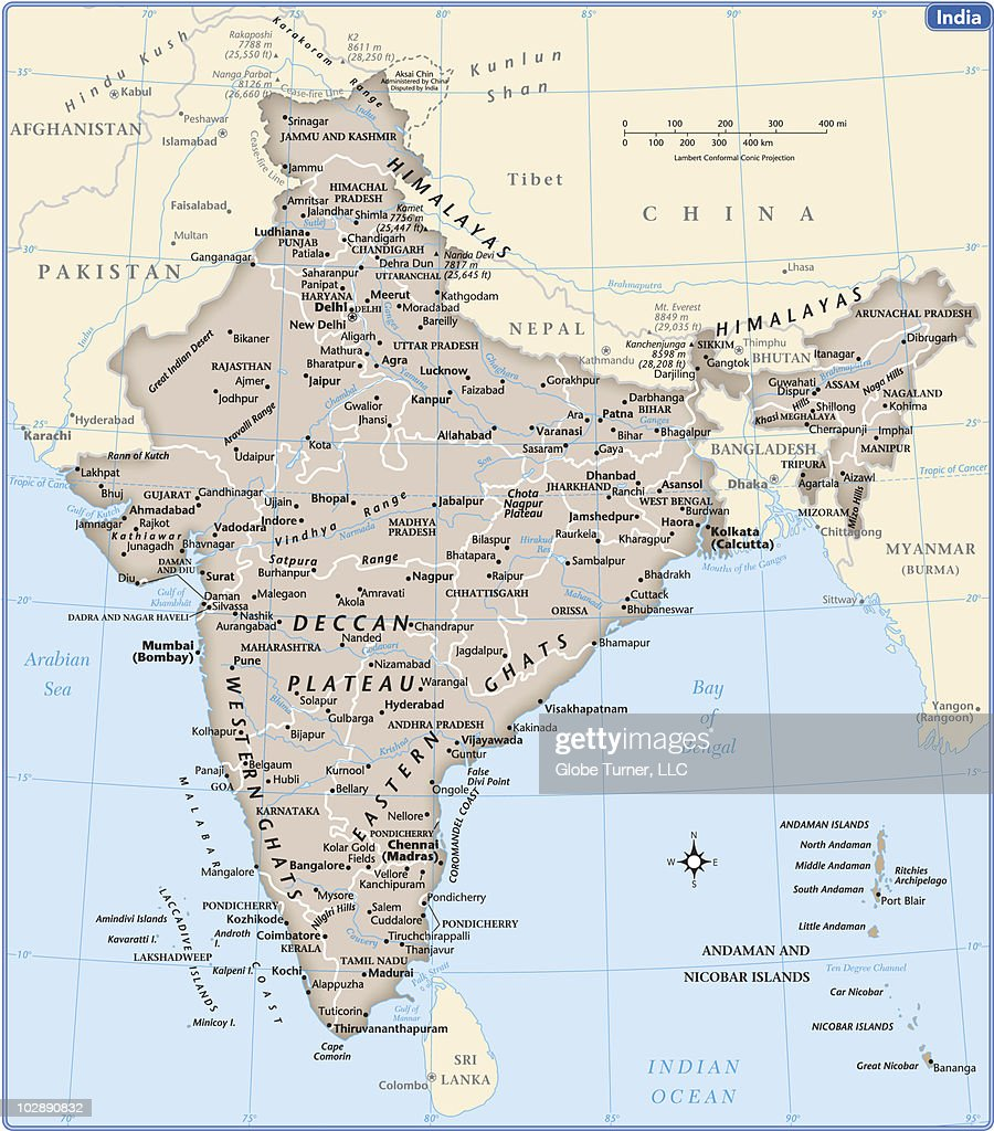India Country Map Vector Art | Getty Images