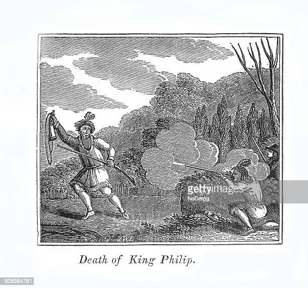Indian Chief King Philip killed in battle