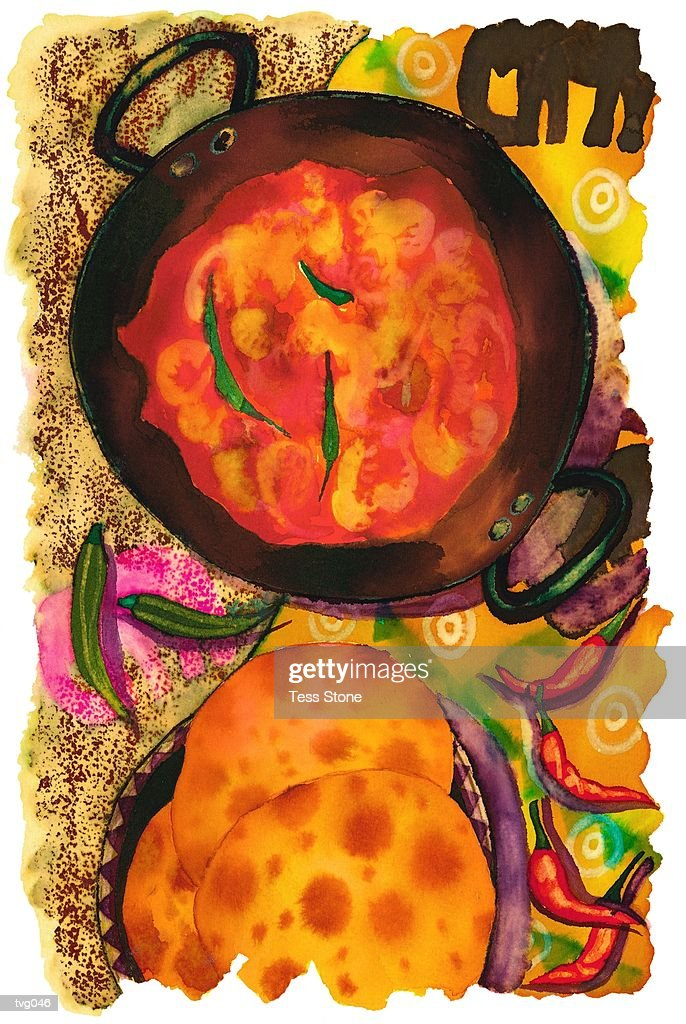 Indian Food : Stock Illustration