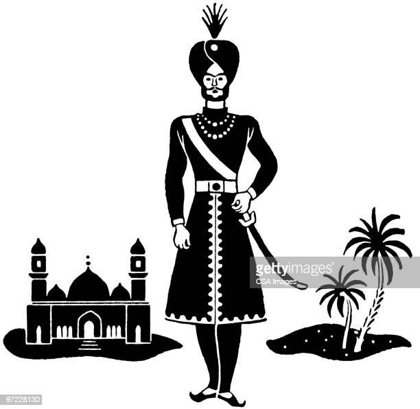 indian - military uniform stock illustrations