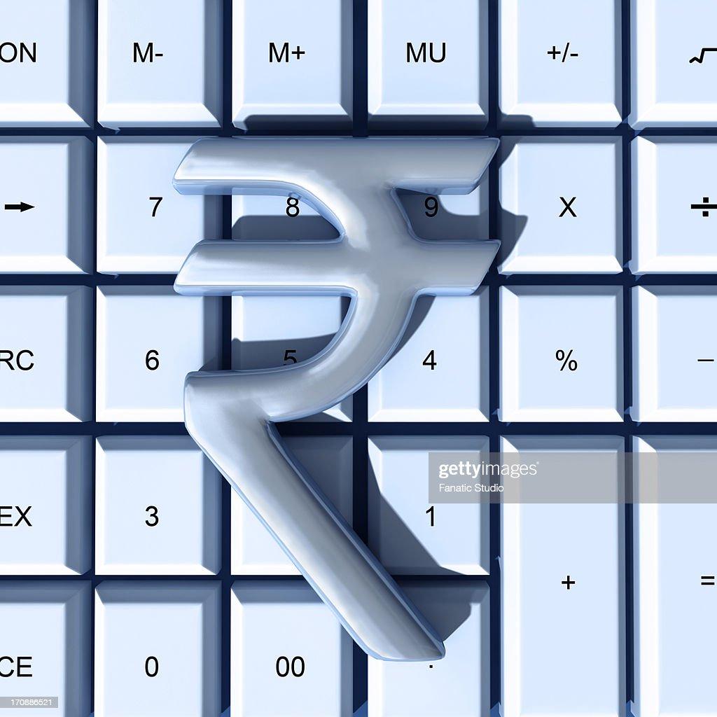 Indian rupee symbol over calculator representing auditing stock indian rupee symbol over calculator representing auditing stock illustration biocorpaavc Choice Image