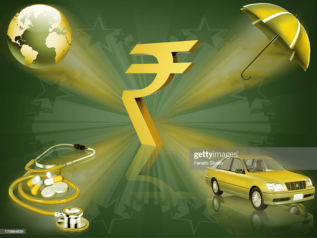 Indian rupee symbol with multiple insurances stock illustration indian rupee symbol with multiple insurances stock illustration biocorpaavc