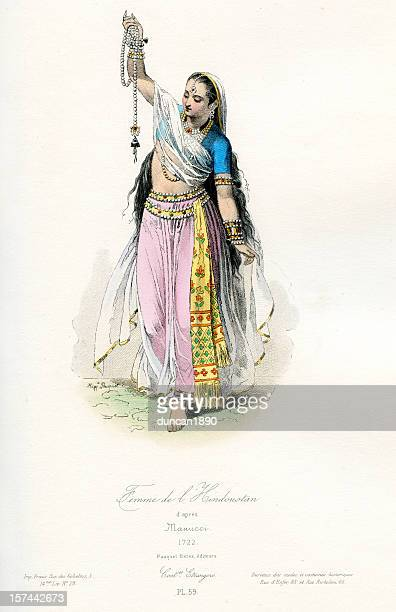 Indian Woman Traditional Costume