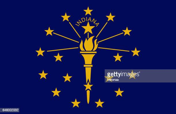 indiana flag - indiana stock illustrations