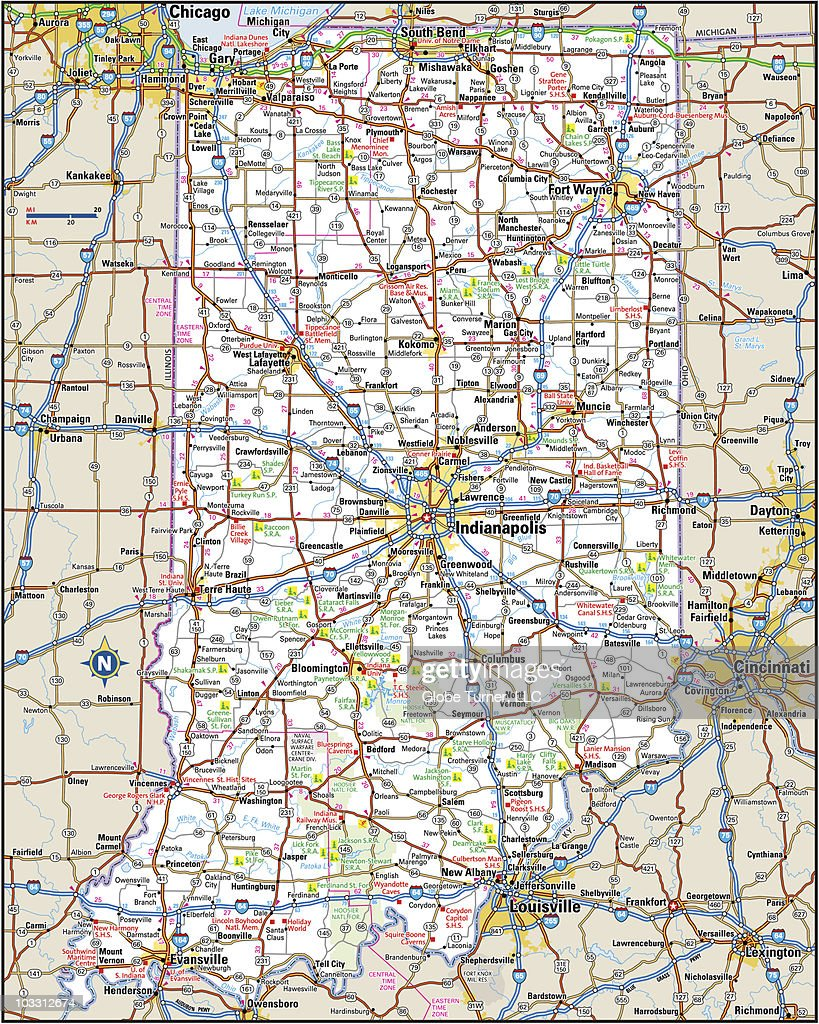 Indiana Highway Map stock illustration - Getty Images on indiana rivers, indiana black and white map, indiana map with cities, indiana animals, indiana hoosier heartland sr-25, chicago interstate 80 map, indiana 465 highway cameras, kokomo indiana map, indiana cities and towns, indiana birds, indiana county map, i-10 hwy map, big indiana state map, indiana highway road conditions, indiana major cities, indiana freeway map, indiana hiv, indianapolis map, i 64 illinois map, indiana flower,