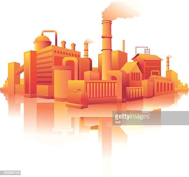 Industrielle Gebäude in einer Stadt