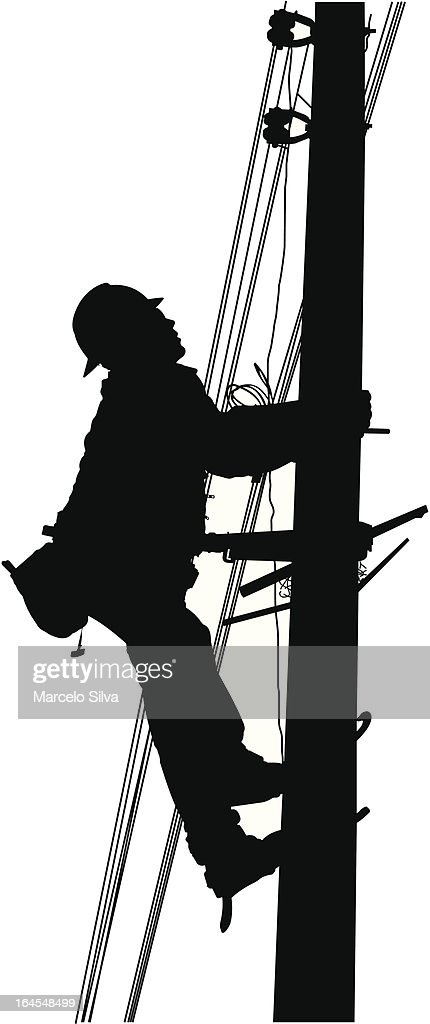 Industrial Electric Worker : stock illustration