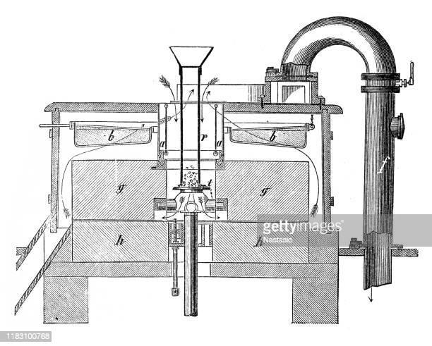 industrial food mills ,ventilation - air duct stock illustrations