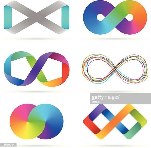 infinity set - infinity stock illustrations
