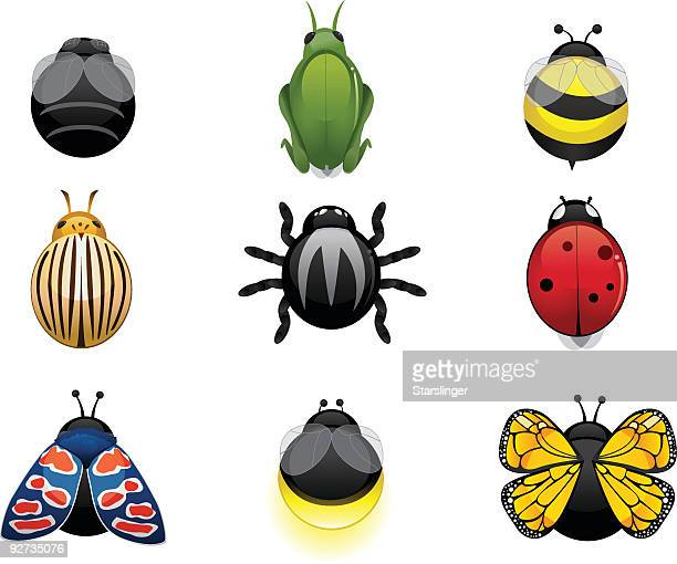 insect icons - bumblebee stock illustrations, clip art, cartoons, & icons